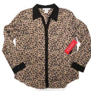 Rebecca Malone Leopard L/S Top Shirt Button Up